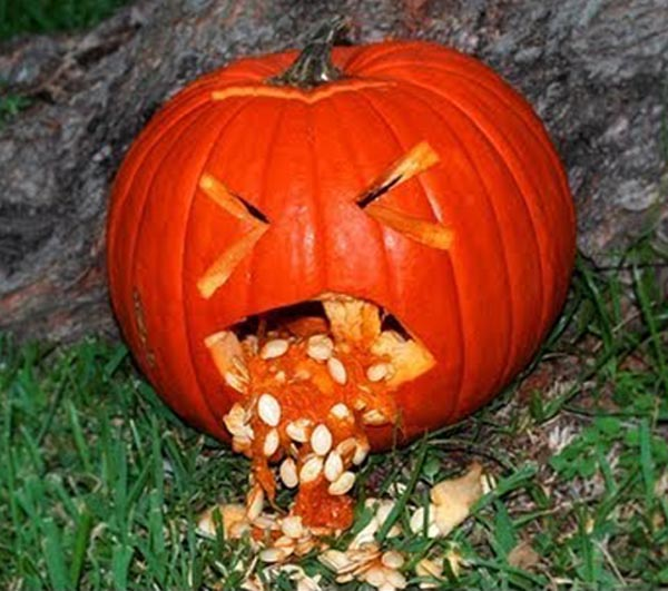 pumpkin jack vomiting its own insides