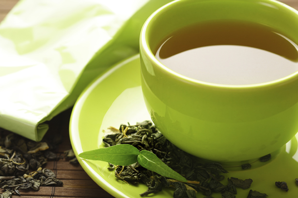 herbal tea green cup