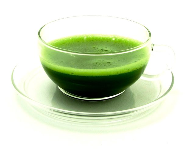 Cup of Green tea used for lowering cholesterol