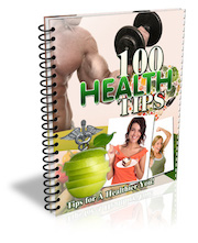 100 health tips ebook cover
