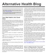 Alternaltive Health Report