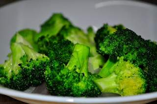Coked broccoli