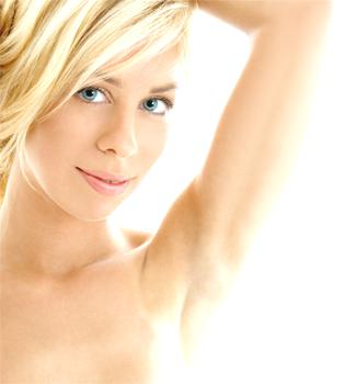 New laser hair removal showing under arm