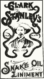 Snake-oil, alternative medicine poster