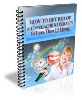 How to get rid of a toothache naturally - ebook cover