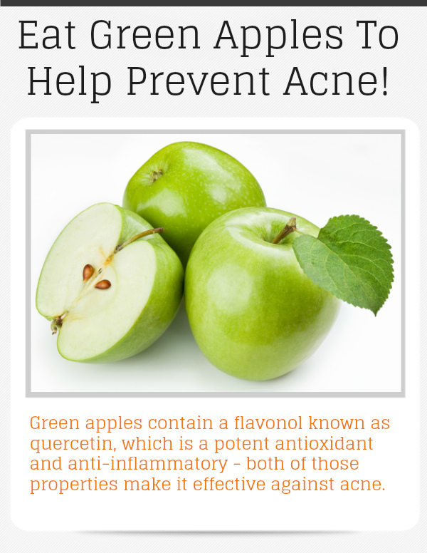 eat green apples prevent acne - meme