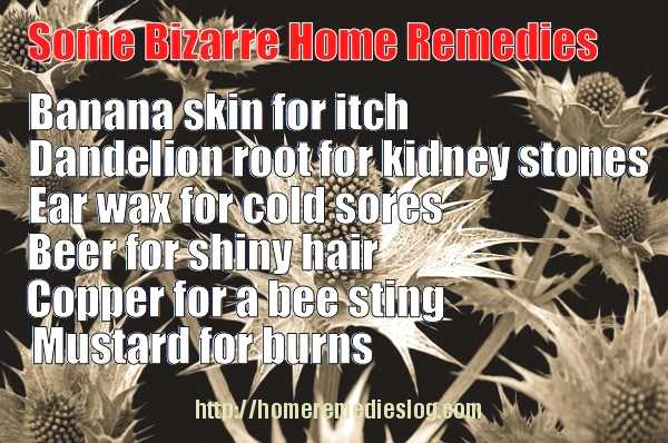 bizarre  and unusual home remedies meme