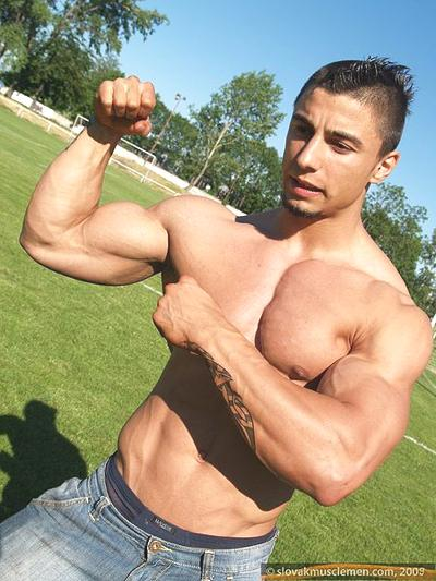 bodybuilding guy in good shape