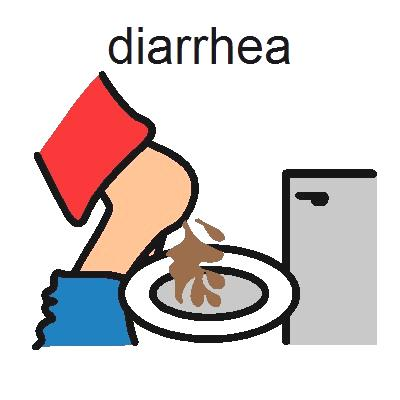 diarrhea illustration