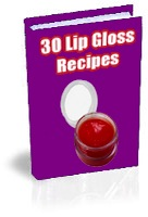 Lip gloss recipes - ebook cover
