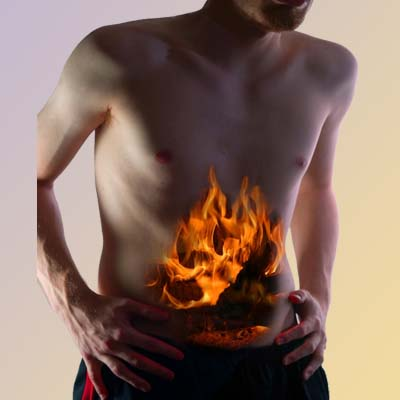 gassy fire tummy graphic