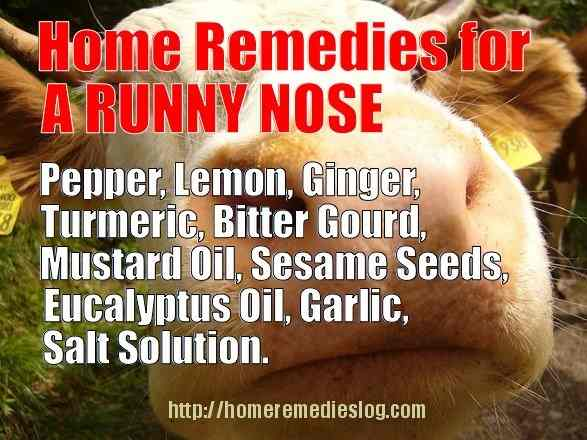 How to prevent running nose at home